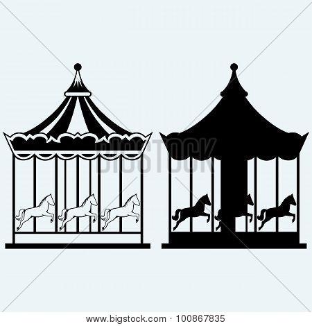 Vintage merry-go-round