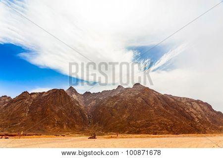 Bedouin Village In Hot Desert