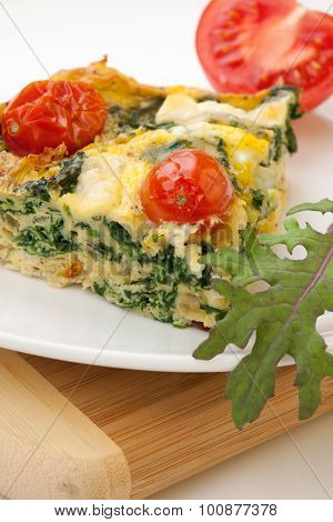 One Piece Of Kale Tomato Frittata