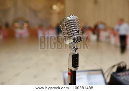 Vocal Microphone on Stage