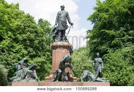 the statue of bismarck in berlin - germany