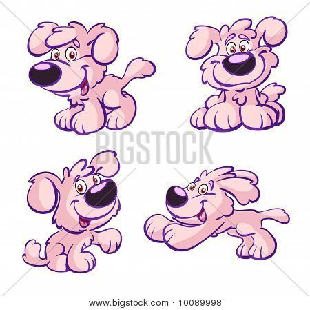 Collection Of Cute Pink Dog