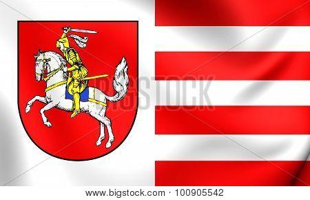 Flag Of Dithmarschen Landkreis (schleswig-holstein), Germany.
