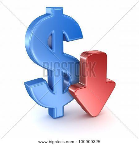 Dollar Sign And Arrow