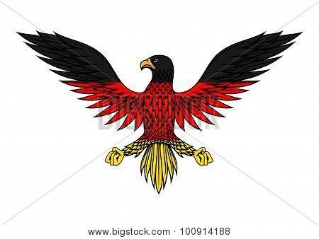 German eagle bird in flag colors