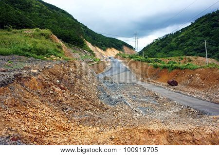 Incomplete Project, Mountain Pass, Highway