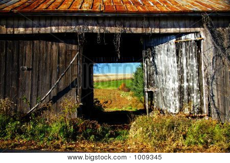 View Through An Empty Barn