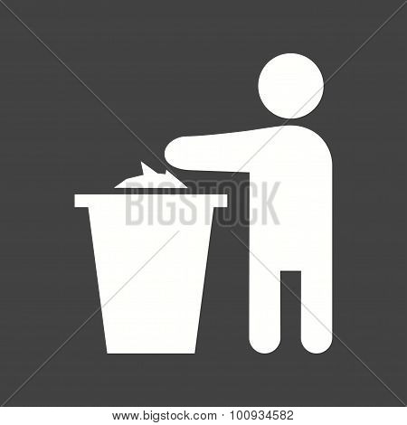 Throwing litter Icon