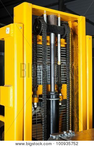 lifting gear modern truck close up