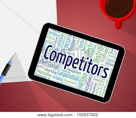 Competitors Word Represents Adversary Competing And Competition