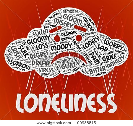 Loneliness Word Means Wordclouds Unwanted And Friendless