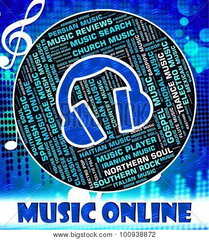 Music Online Indicates World Wide Web And Acoustic