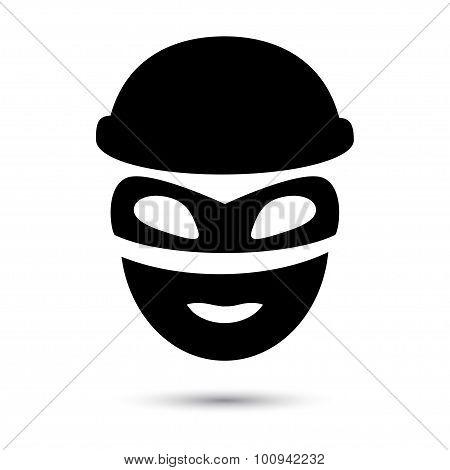 Simple web icon in vector. Thief icon.