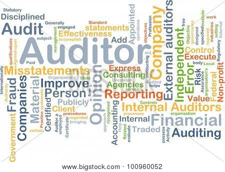 Background concept wordcloud illustration of auditor