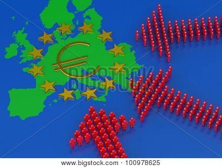 European Migrant Crisis Concept