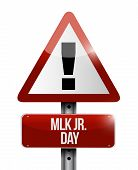 MLK jr. day attention sign illustration design icon graphic poster