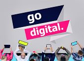 Go Digital Modern Latest Technology Upgrade Concept poster
