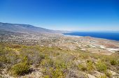 Scenic view of Guimar valley in south Tenerife Canary islands Spain. poster