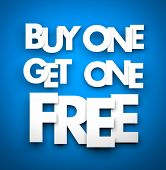 Buy one get one free poster