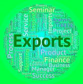 Exports Word Indicating International Selling And Exporting poster
