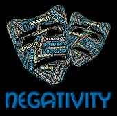 Negativity Word Representing Text Dissentt And Defeatist poster