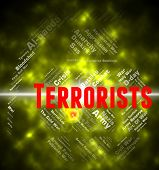 Terrorists Word Representing Freedom Fighter And Hijackers poster
