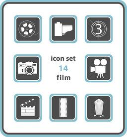 Vector Icon Set 14: Film