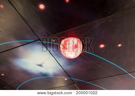 Beautiful Galaxy Design Ceiling Lamp