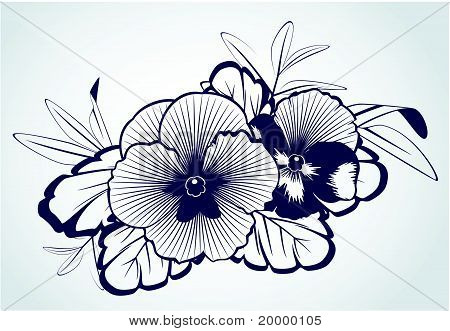 Roses on the background for design. Vector