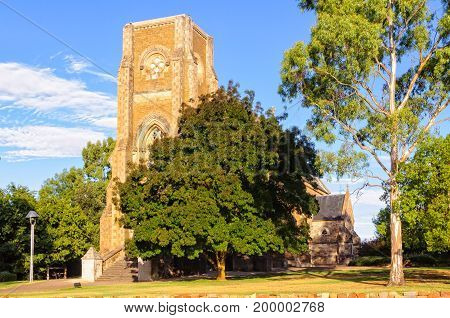 The historic St Aloysius Church is a great example of Gothic Revival architecture - Sevenhill SA Australia