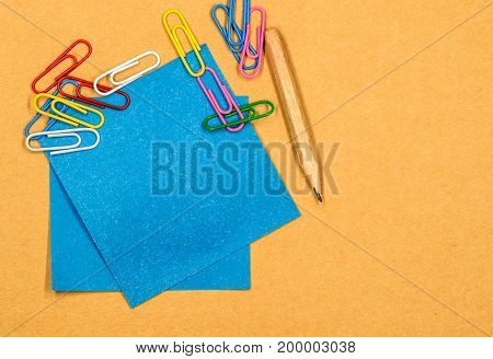 back to school concept. various stationary on white background