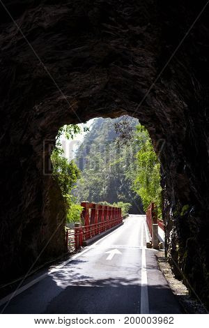 A Tunnel (one Of Dozens) In Taroko National Park