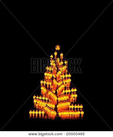thai style decoration lamp in the celebration ceremony poster