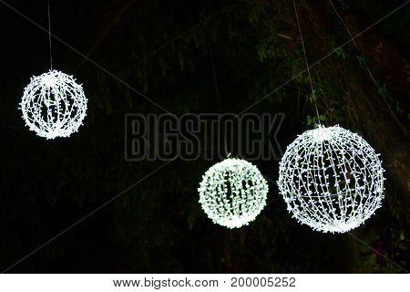 A White Light Lamp  In Celebretion Night