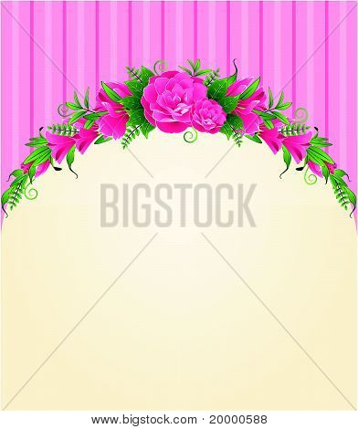 Flowers on a yellow background with a place for the text