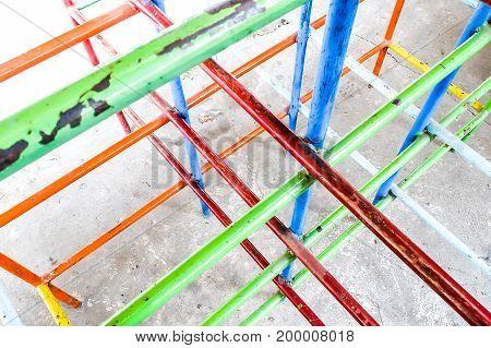 playground of slum in bangkok for kid