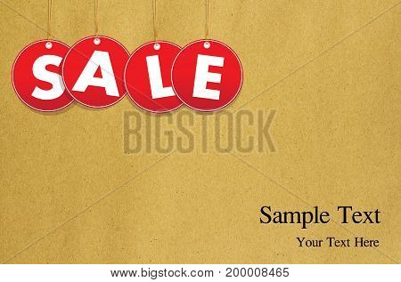 Red hanging sale labels, shopping, business, retail