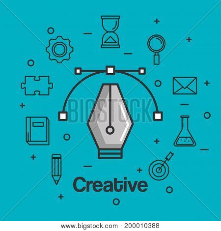creative inspiring intelligence and motivation vector illustration