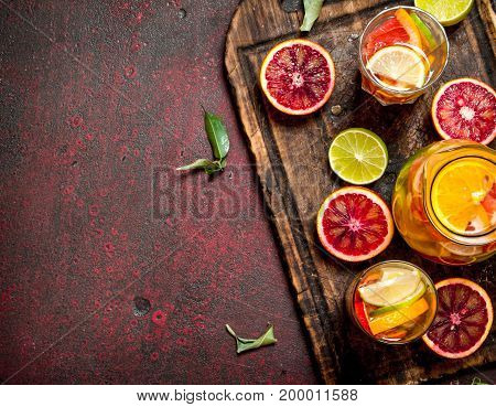 Fresh Juice From Citrus Fruits.