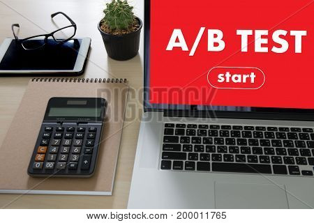 A/b Test Start And  A-b Comparison. Split Testing