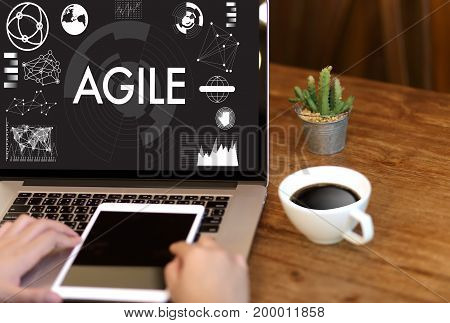Agile Agility Nimble Quick Fast Concept Businessman Working
