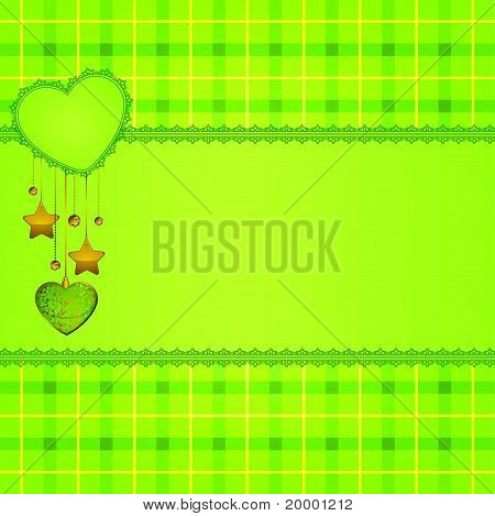 Beautiful background with lace and hearts. Vector