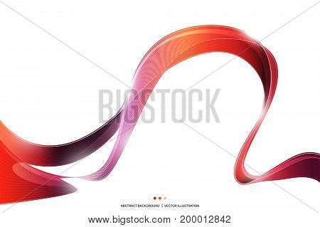 Red purple wave stripe ribbon abstract Background, fire concept, vector illustration