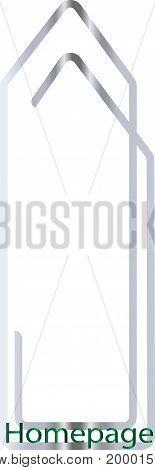 Homepage / Clip / Logo symbol, vector, web, website,