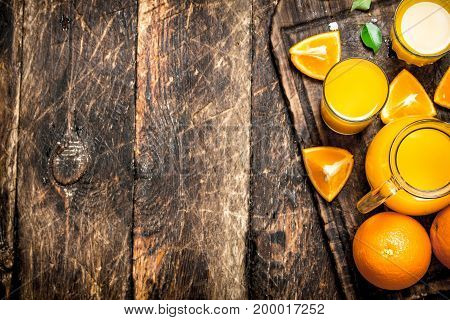 Fresh Juice From Ripe Oranges.