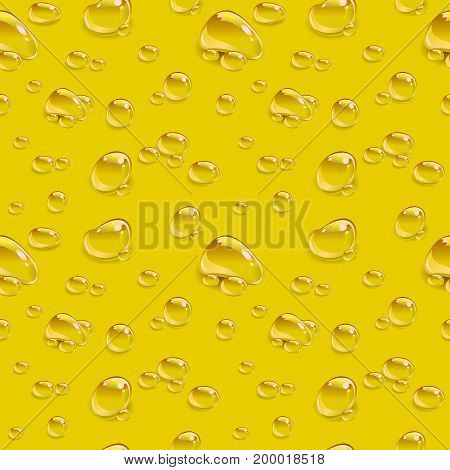 Drop beer seamless background. Illustration in vector format