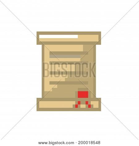 letter card message with important text vector illustration