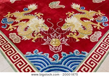 Dragon Image On The Carpet