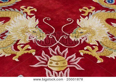 Dragon Image On The Carpet