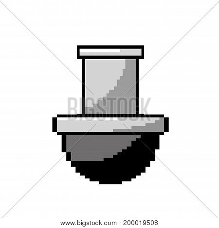 contour video game platform tube, to console play vector illustration